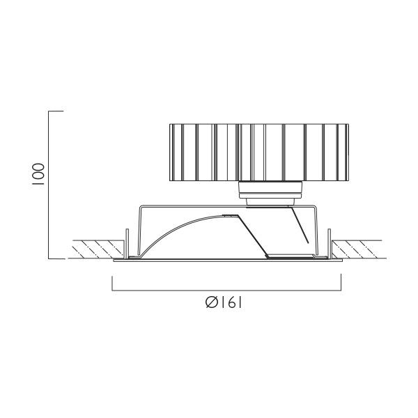 Tempo X161 Wallwasher Line Drawing